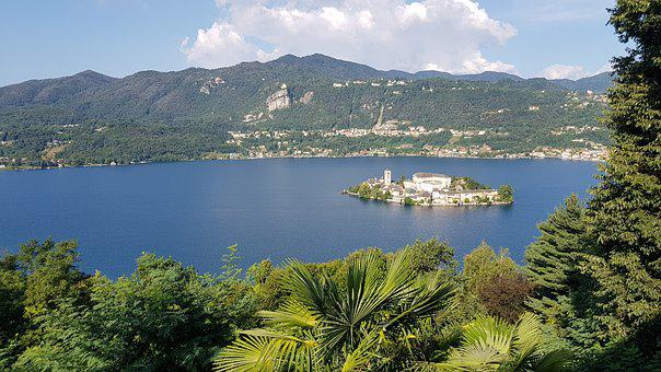 Landscape, The Island Of San Giulio, Waters, Lake