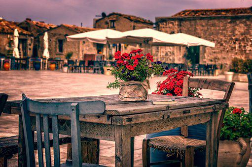 Table, Chair, Old, Terrace, Lifestyle, Summer, Relax