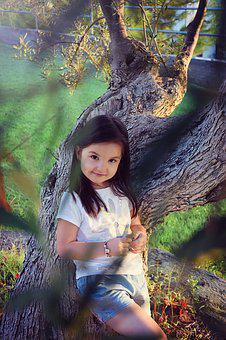 Girl, Summer, Cute, Fun, Nature, Olive, Kid, Child