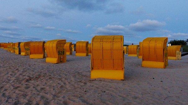 Clubs, Mood, Evening Light, Beach, Vacations, North Sea