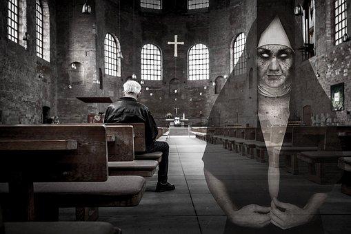 Ghost, Scary, Nun, Photo, Religion, Church