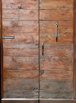 Door, Gate, Input, Old, Metal Handle, Iron Fog, Antique