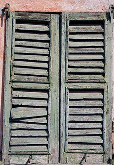 Shutter, Wood, Weathered, Old, Window, Shutters, Closed
