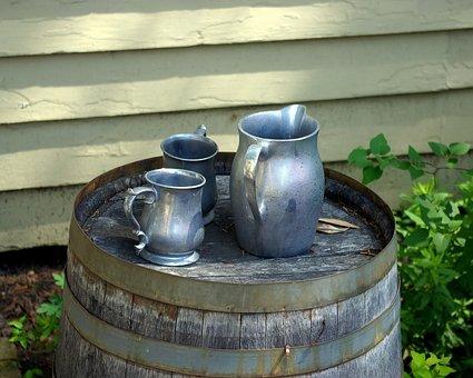 Historic Arkansas Pewter-ware, Pewter, Mug, Pitcher