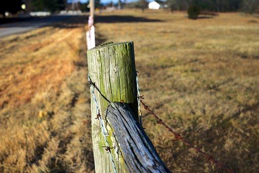 Arkansas Ozark Fence, Post, Wire, Fence, Pasture
