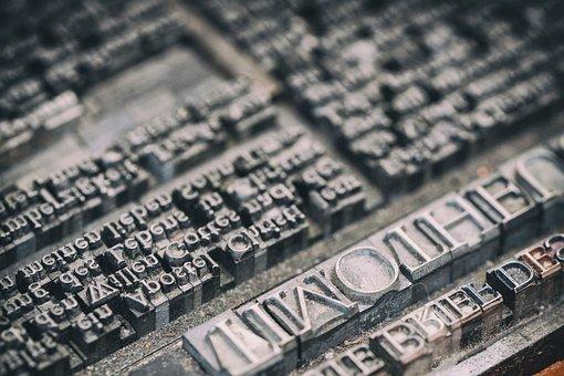 Letters, Pressure Plate, Pressure, Printing