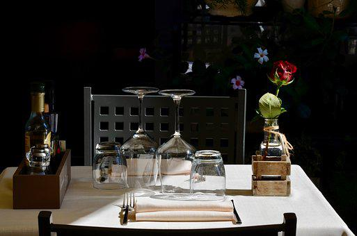 Restaurant, Lunch, Table, Italy, Vacations, Glasses