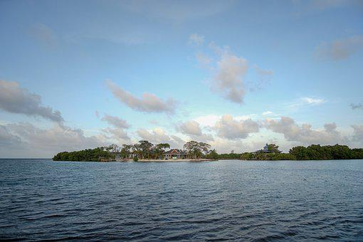Belize, Caye, Island, Living, Sea, House