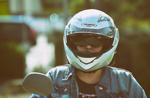 Motor Scooter, Drive, Helm, Security, Head Protection