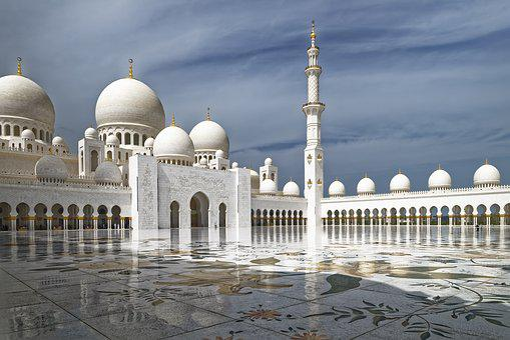 U A E, Abu Dhabi, Sheikh Zayed Grand Mosque, Minaret