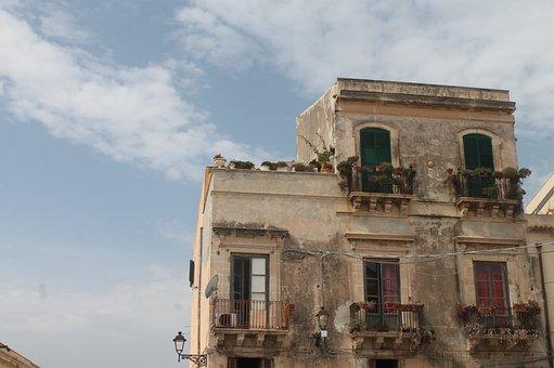 Siracusa, Sicilia, Sicily, Italy, Window, Building