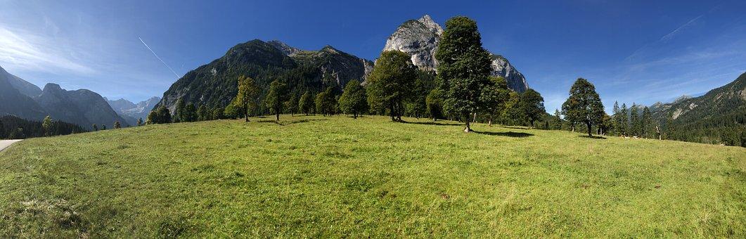 Ahornboden, Nature, Engalm, Sky, Landscape, Karwendel