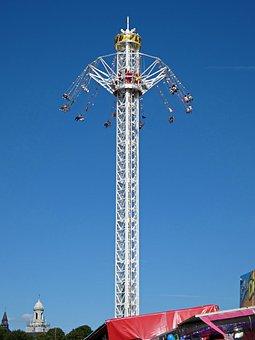 Manege, Vertigo, Fun Fair, Feeling, Height, Sky, Turn
