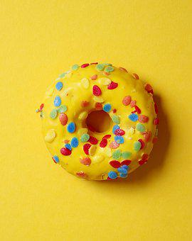 Donut, Cake, Pastries, Food, Sweet, Eat, Delicious