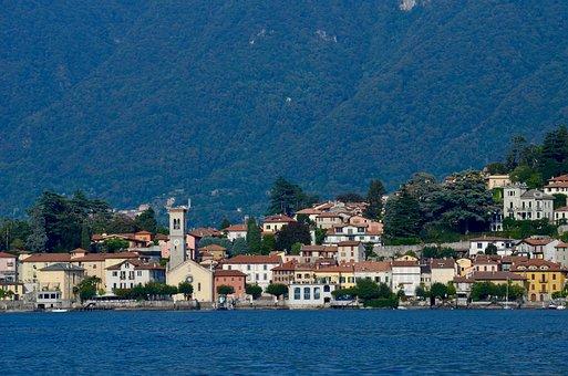 Italy, Lombardy, Lake, Torno, Village, Coastal Village