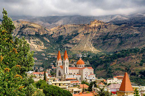 Landscape, Village, Church, Catholic, Maronite