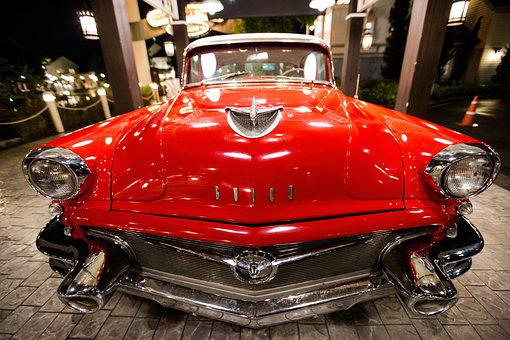 Car, Red Car, Old, Classic, Oldtimer, Speed, Vintage