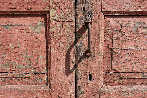 Front Door, Weathered, Wood, Wooden Door, Old, Door