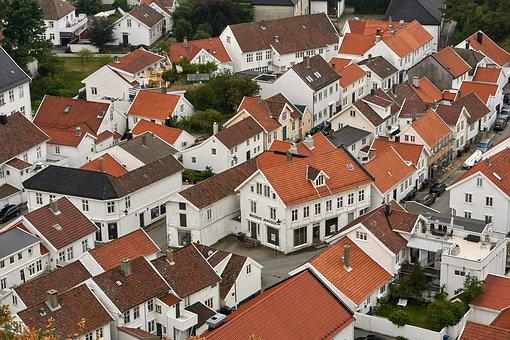 Aerial View, Village, City, Architecture, Structures