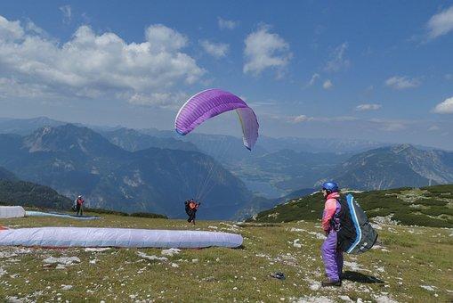 Paragliding, Lake Hallstatt, Air Sports, Sports