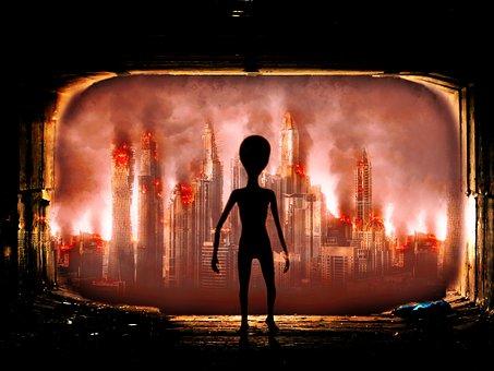 Invasion, Alien, Ufo, Futuristic, Earth, Annihilation