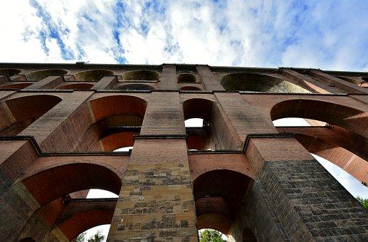 Viaduct, Railway, Architecture, Göltzschtalbrücke