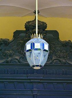 Lamp, Church, Architecture, Lighting, Religion, Pillar