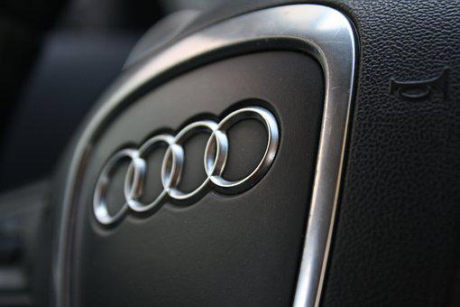 Horn, Steering Wheel, Audi, Car, Rings
