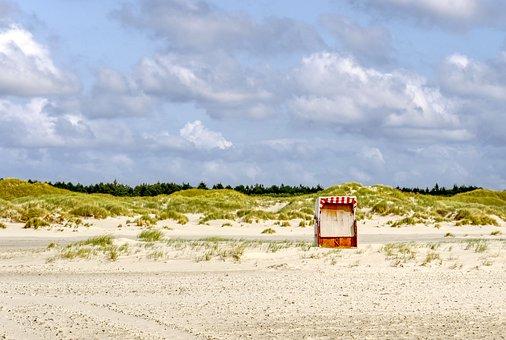 Beach Chair, Beach, Sand, Dunes, Sand Beach, Vacations
