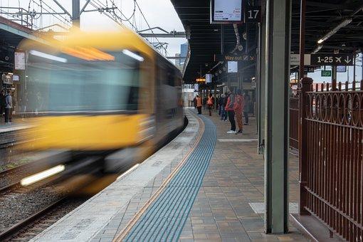 Train, Station, Platform, Speed, Blur, Railway
