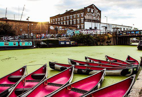 Boat, River, Building, Street Photography, Colours