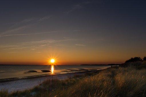 Sunset, Sky, Night, Clouds, Twilight, Evening, Mood