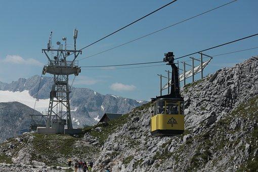 Seilbahn, Dachstein-krippenstein, Austria, Cableway
