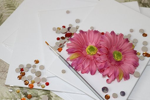 Still Life, Paint Brush, Floral, Flower, Daisy