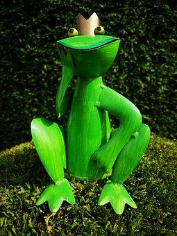 Frog, Garden, Nature, Figure, Summer, Frog Prince, Deco