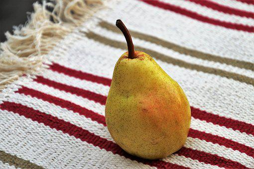 Pear, Fruit, Tablecloth, Diet, Fabrics, Linen, Strips