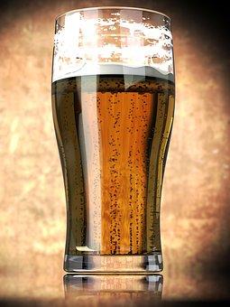 Rendering, Render, Beer, Glass, Drink, Refreshment