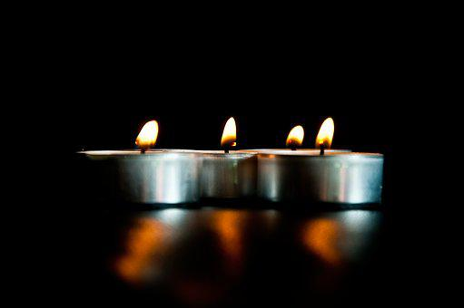 Candles, Black Background, Light, Lighting, Evening