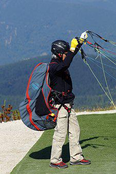 Paraglider, Paragliding, Equipment, Flying, Freedom