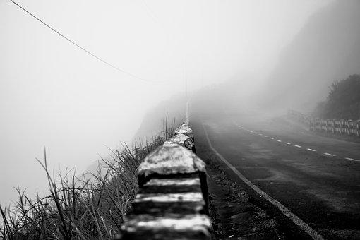 Nature, Bridge, Fog, Landscape, Foggy, Sky