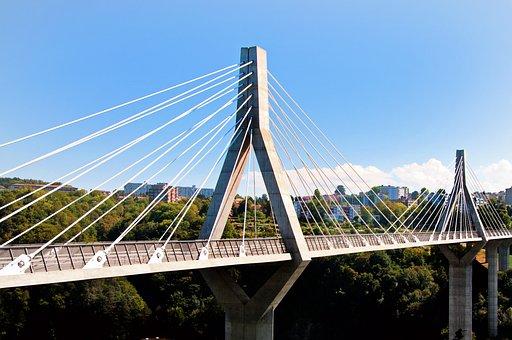 Bridge, Fribourg, Freiburg, Switzerland, City, Summer
