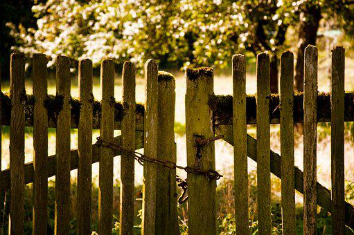 Fence, Garden, Chain, Rusted, Garden Fence, Nature