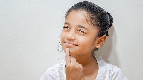 Indian, Girl, Beautiful, Kids