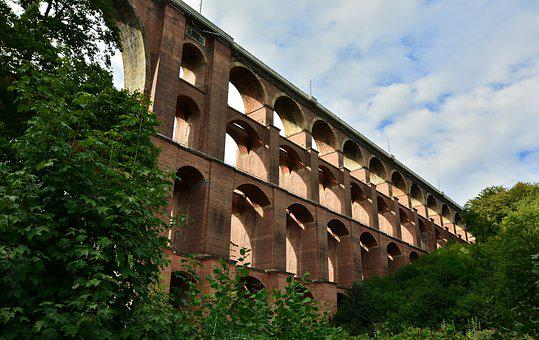 Viaduct, Göltzschtalbrücke, Vogtland, Brick