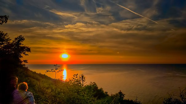 Sunset, Sea, In The Evening, Twilight, Scenery, Summer