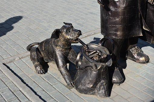 Sculpture, Metal, Dog, Steal, Sausages, Novosibirsk