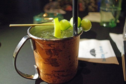 Cocktail, Moscow Mule, Cup, Cucumber, Drink, Delicious