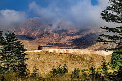 Landscape, Mountain, Summit, Summer, Arid, Cedar