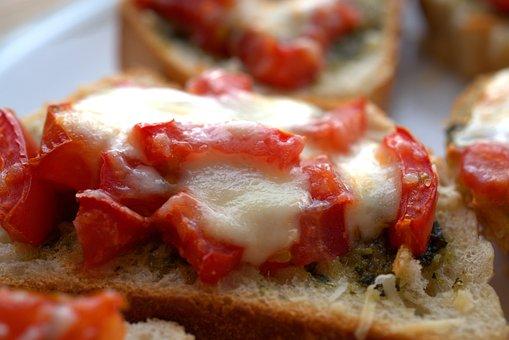 Bruschetta, Mozzarella, Parmesan, Scalloped, Eat