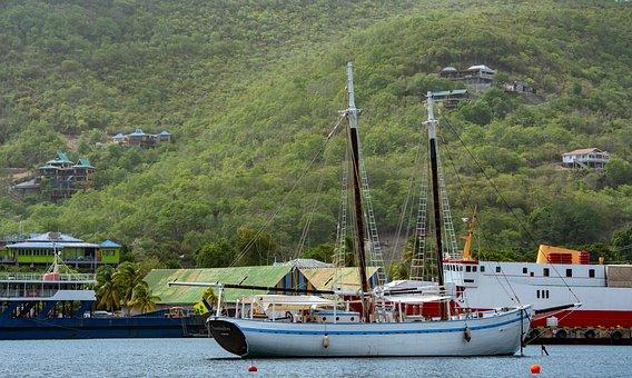 Yacht, Becquia, Paradise, Caribbean